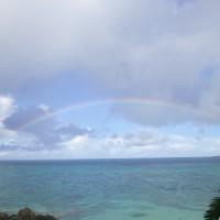 お部屋からの虹