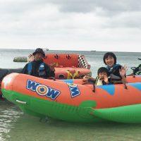 バナナボートに初挑戦!